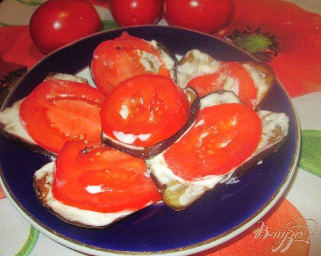 фото рецепта: Закуска из баклажанов и помидоров