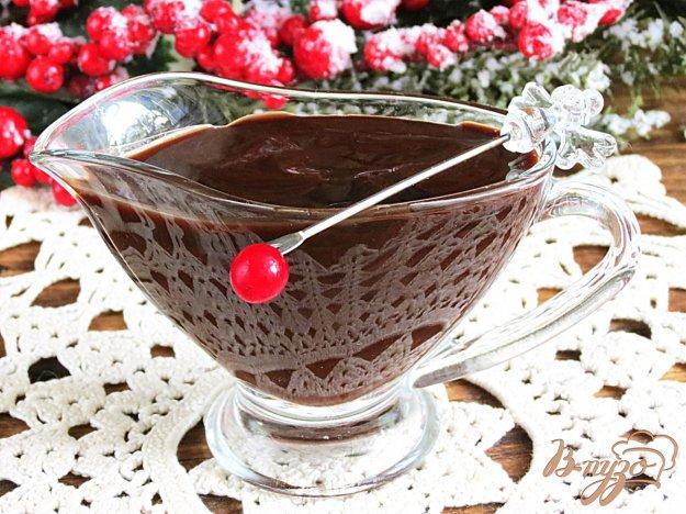 фото рецепта: Шоколадный соус с какао