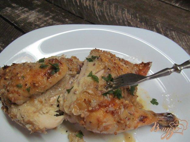 фото рецепта: Запеченная курица под соусом из помело
