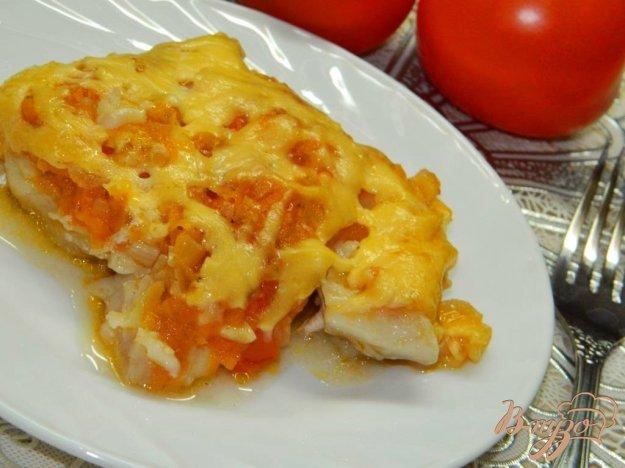 фото рецепта: Запеченая рыба под овощной подушкой