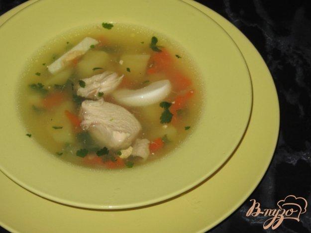 фото рецепта: Суп из куриной грудки с кукурузной крупой