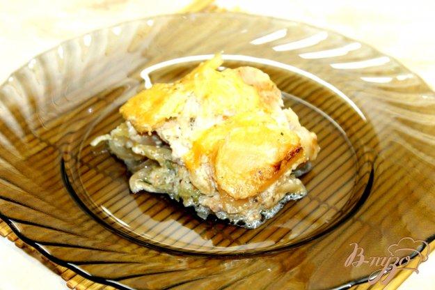 фото рецепта: Запеченный картофель со свининой и брокколи