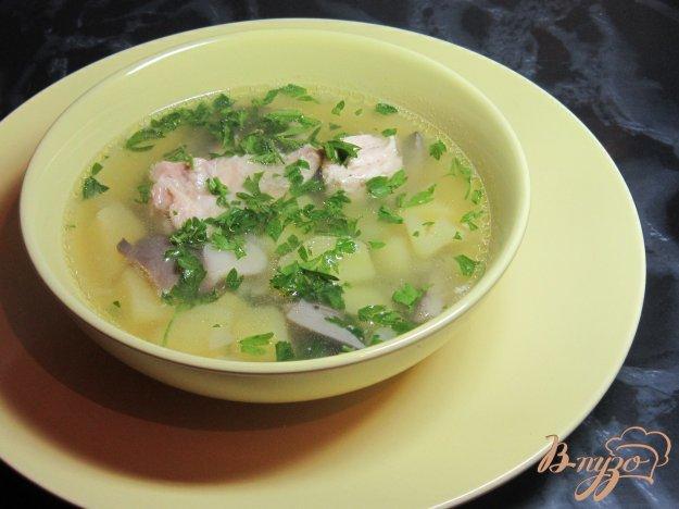 фото рецепта: Куриный суп с вешенками