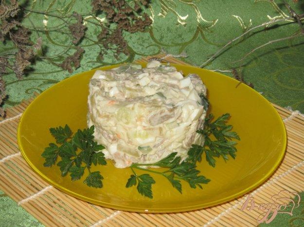 фото рецепта: Салат со свининой и квашеной капустой