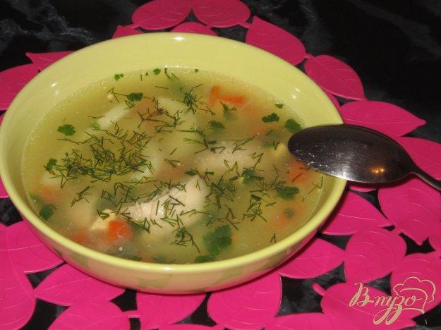 фото рецепта: Куриный суп с яйцом и пшеном