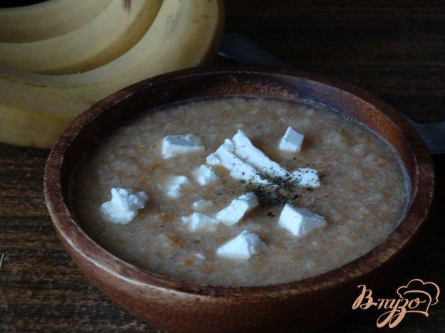 фото рецепта: Суп-пюре с овощами, курицей и фетой