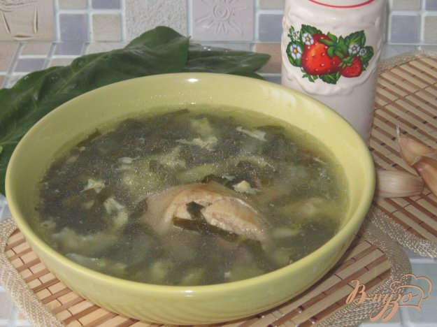 фото рецепта: Щавеливый суп с курицей