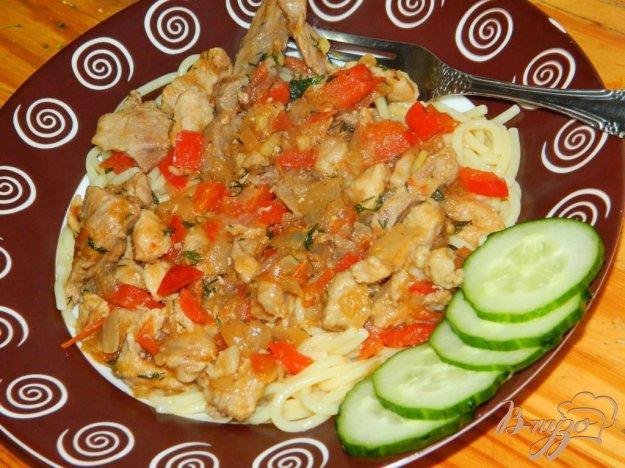 фото рецепта: Свинина тушеная с овощами