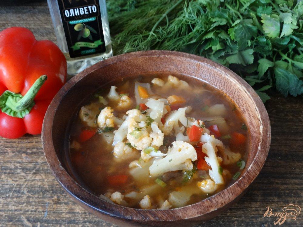 томатный суп с цветной капустой