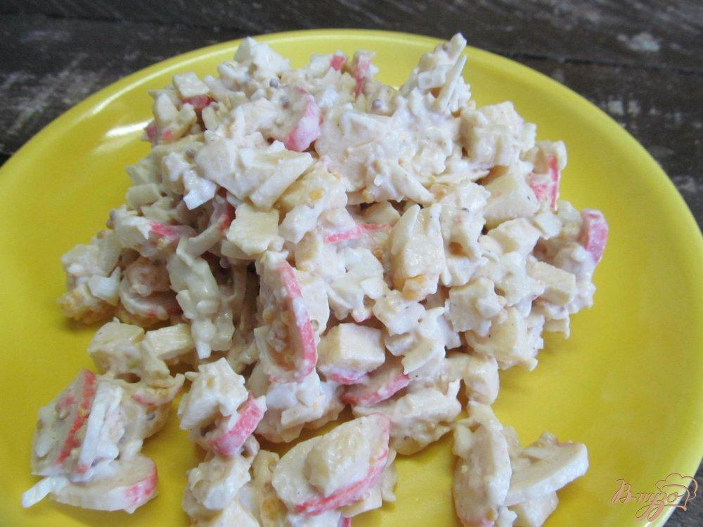 60Салат из крабовых палочек пошаговый рецепт