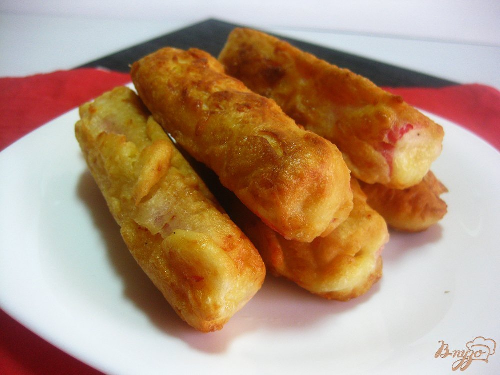 Крабовые палочки фаршированные в кляре рецепт пошагово