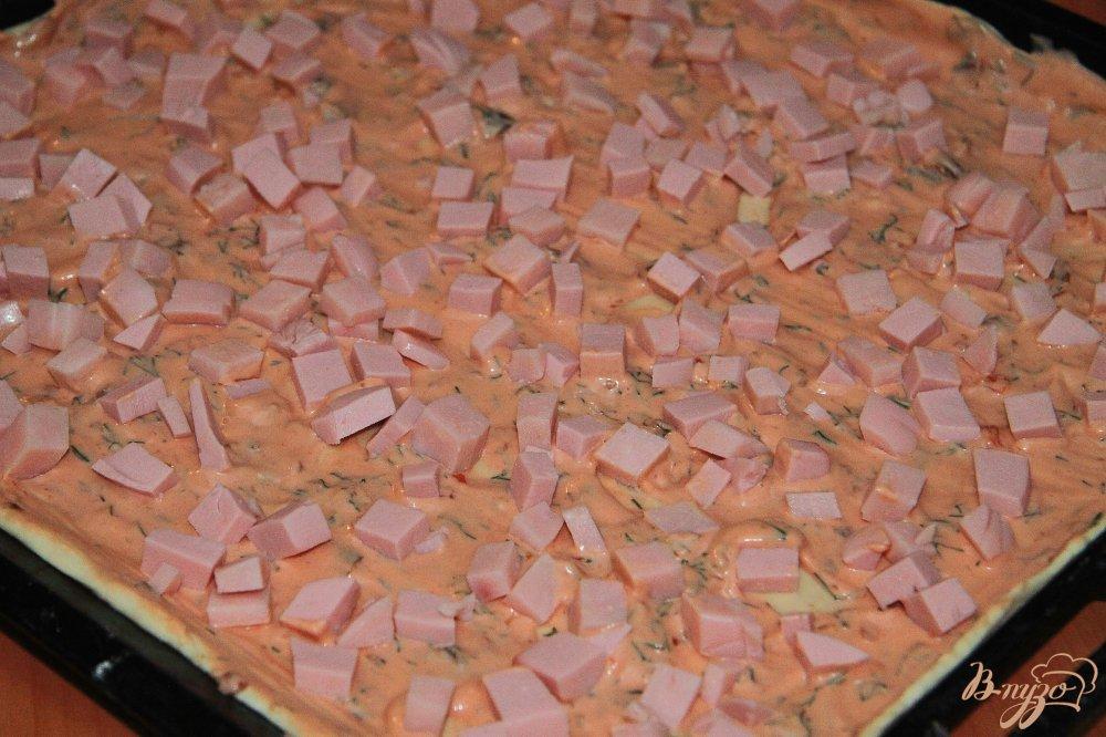 пицца с грибами и колбасой и сыром рецепт с фото