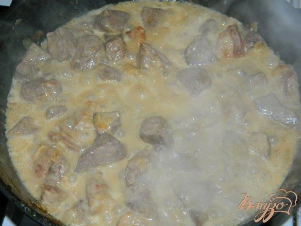 Печень свиная в сливках рецепт с фото