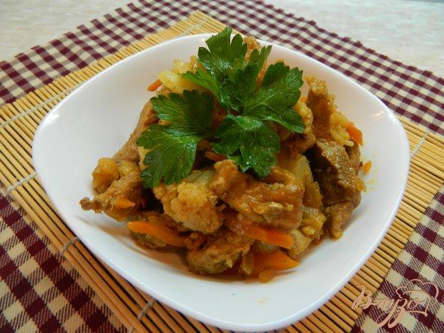 фото рецепта: Тушеная свинина с овощами
