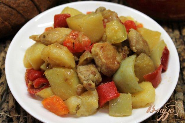 картофель тушеный с овощами в духовке рецепт