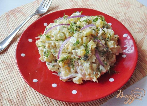 Салат из вареной картошки и яиц