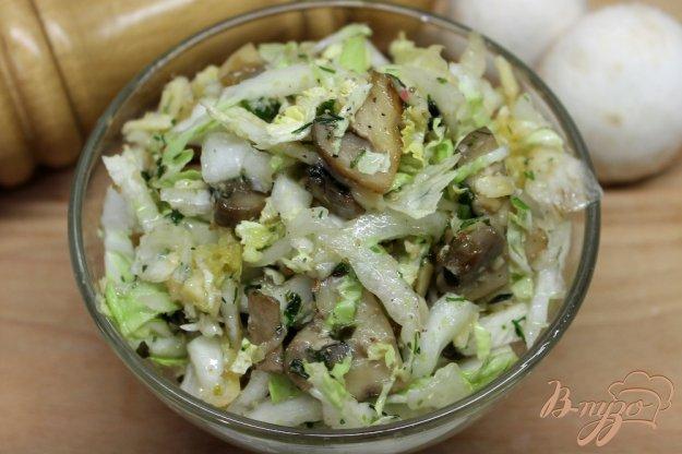 Салат шампиньонов пошаговый рецепт фото