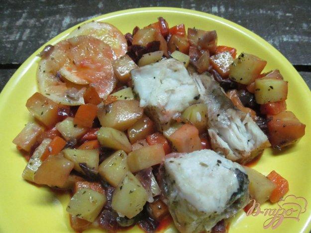 фото рецепта: Запеченная рыба с овощами