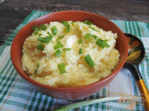 фото рецепта: Картофельное пюре с мягким сыром и кукурузой
