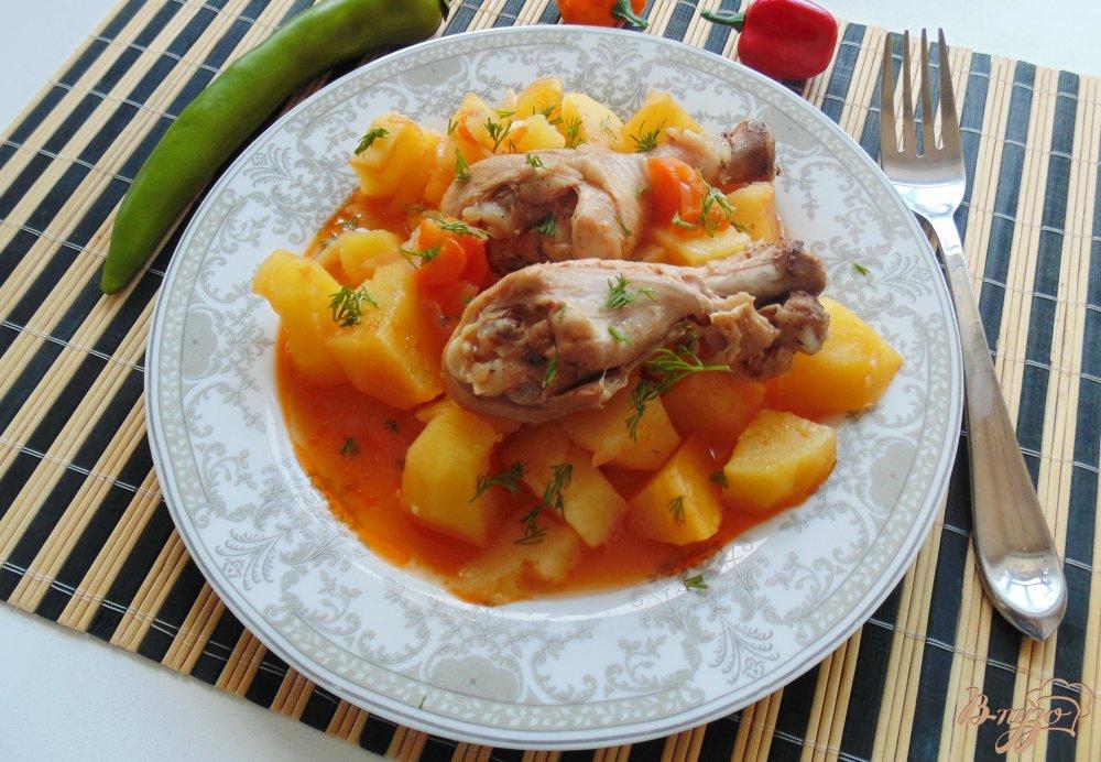 жаркое из курицы с картофелем с фото