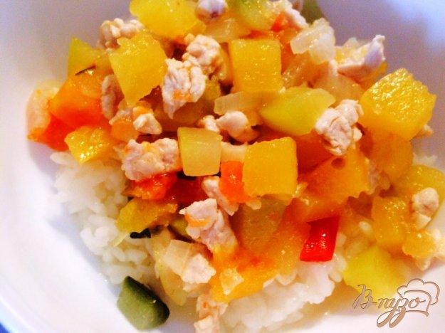 фото рецепта: Рагу из индейки и овощей для деток