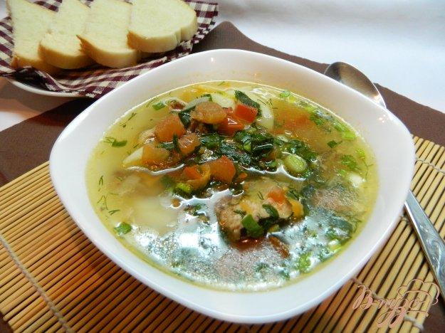 фото рецепта: Рыбный суп со свежими  помидорами