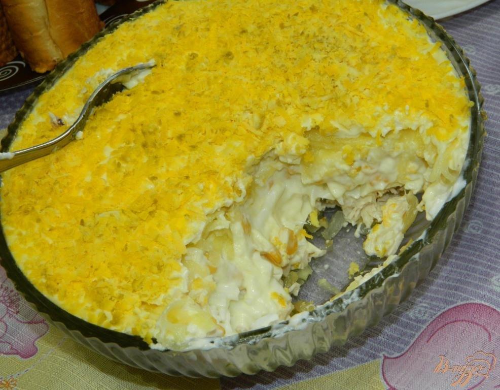 салат с курицей триумф рецепт с