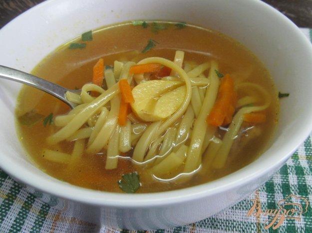 фото рецепта: Суп -лапша на курином бульоне