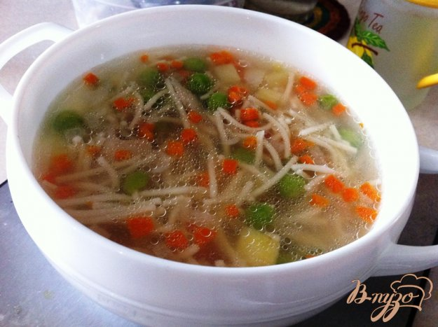 фото рецепта: Суп из кролика с вермишелью и овощами