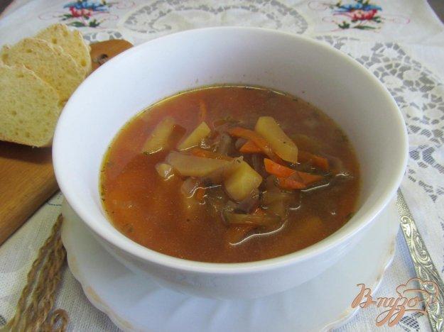 фото рецепта: Свекольный суп с соленым огурцом
