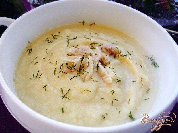 фото рецепта: Суп-пюре из кролика, тыквы и цветной капусты для деток