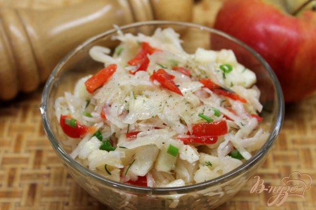 фото рецепта: Салат из квашенной капусты с перцем и яблоком