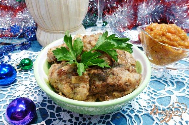 фото рецепта: Жаренная куриная печень, маринованная в сметане