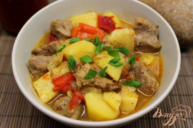 фото рецепта: Жаркое со свининой и болгарским перцем