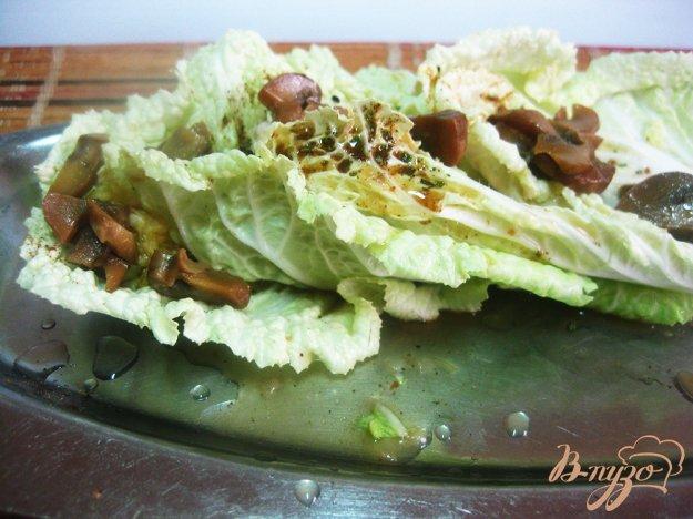 фото рецепта: Фаршированные листья пекинской капусты