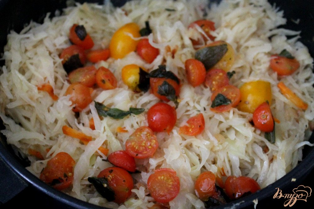 капуста с помидорами салат