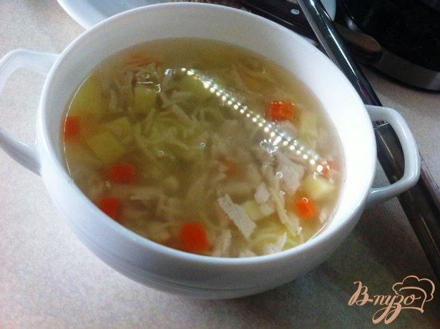 фото рецепта: Суп из индейки, кукурузы и  вермишели для деток