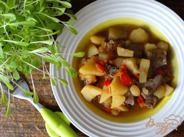 фото рецепта: Рагу из овощей и говяжьей печени