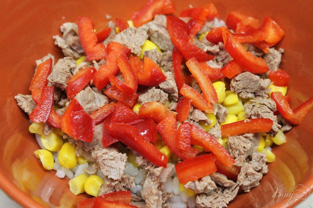 Как сделать салат из перца и риса 683