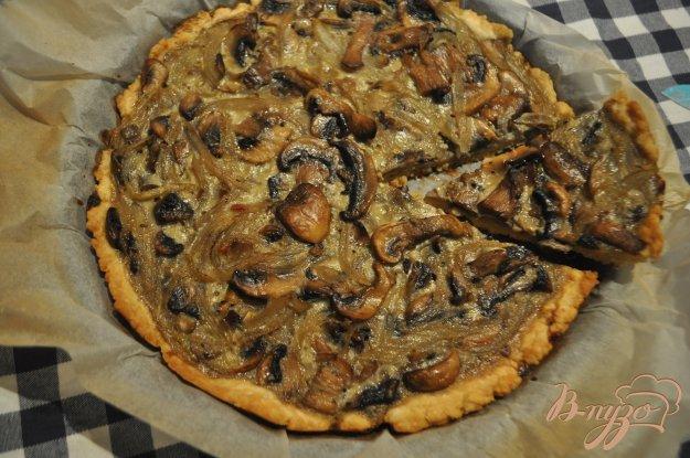 Пирог из песочного теста с грибами рецепт с