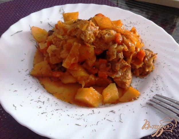 фото рецепта: Овощное рагу со свининой и шампиньонами