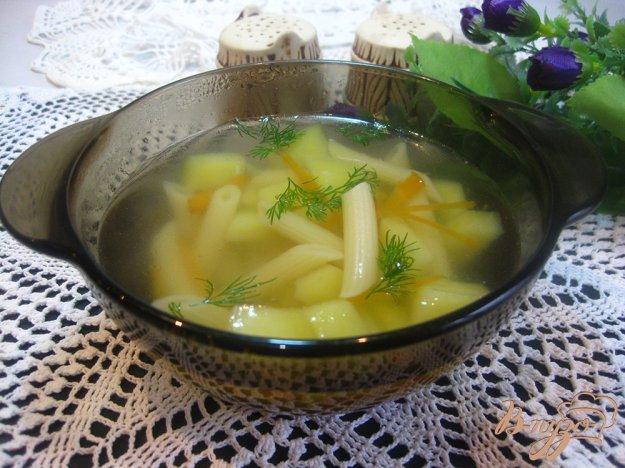 фото рецепта: Суп на курином бульоне с макаронами