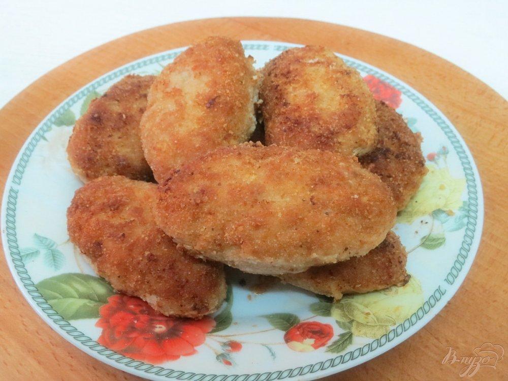 Фото приготовление рецепта: Зразы с зелёным луком шаг №10