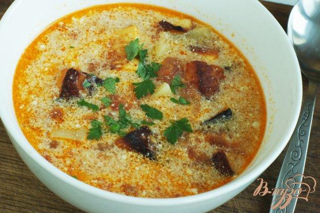 фото рецепта: Томатный суп с адыгейским сыром