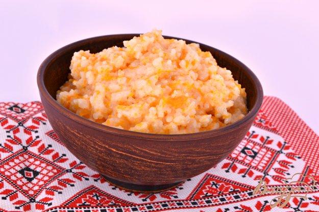 фото рецепта: Рисовая каша с тыквой в мультиварке