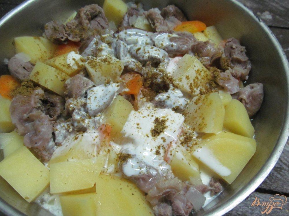 Тушеная картошка с курицей в мультиварке пошаговый рецепт