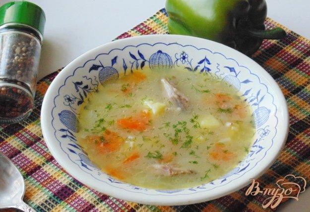 фото рецепта: Овсяный суп с курицей