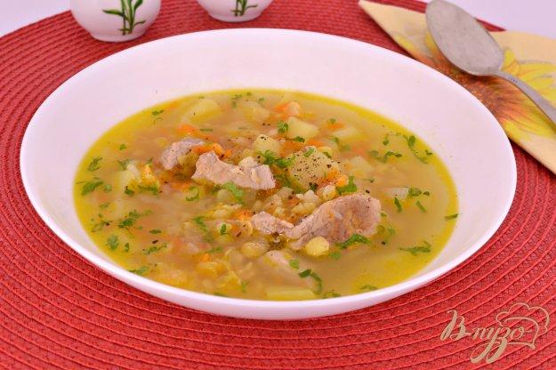 фото рецепта: Суп гороховый со свининой в мультиварке