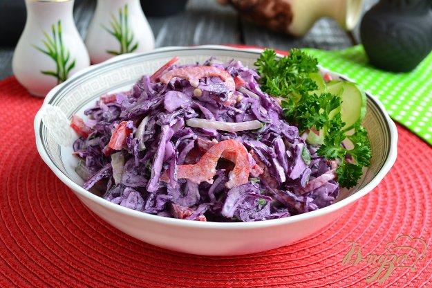 Салат из краснокочанной капусты фото