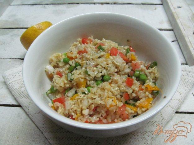 фото рецепта: Салат из овощей с булгуром